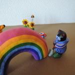 くまの夏休み 虹とひまわり