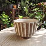 小石原焼マルダイ窯太田万弥さんの刷毛目のマグカップ
