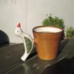 穏やかな新春に小堤晶子さんのマグカップで外カフェ