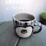 寒椿の似合う一日、栗原節夫さんのマグカップ