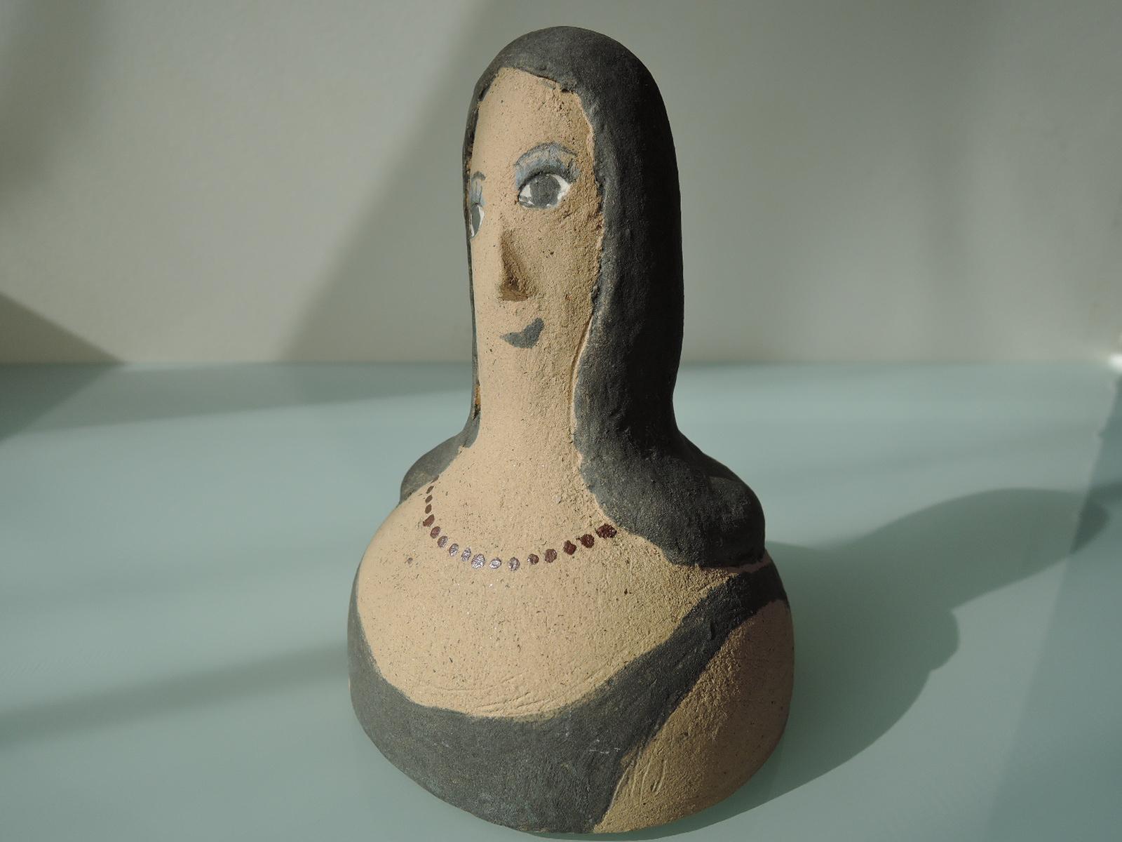 花塚哲男さんの陶人形 パリジェンヌ