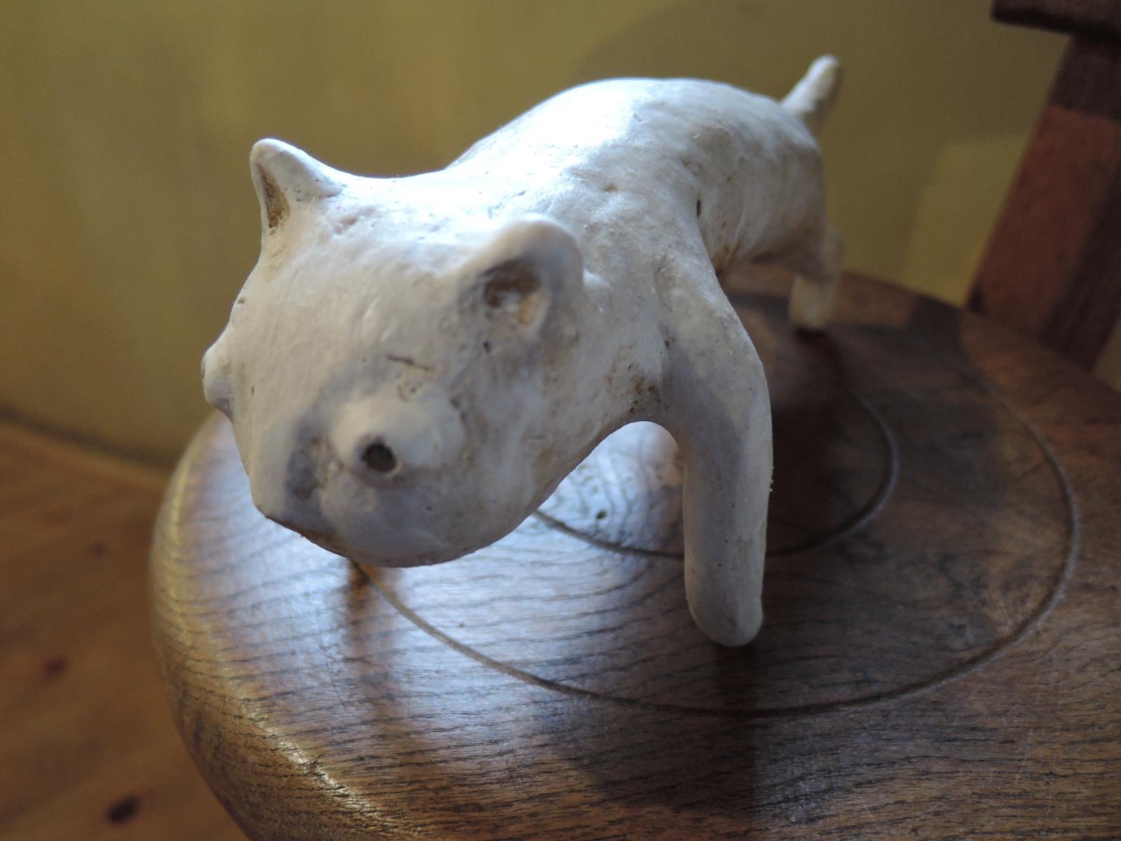 白倉えみさんの陶の動物のオブジェ