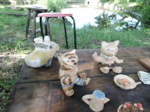 濱比嘉詩子さんの作品 森の中のピクニック風景