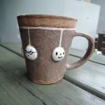 コッソリ工房さんの雨だれマグカップ