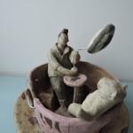 門脇美香江さんの作品 回るコーヒーカップ