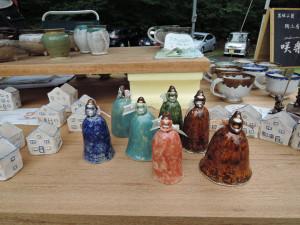 一壷さんの陶器のオブジェ