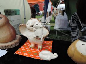 陶人形わかまさんの夢あるオブジェ