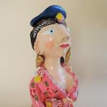 ポルトガルの作家イレーネサゥゲイロさんの陶器人形Matrafona