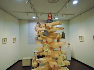 中野真紀子さんの陶展会場風景