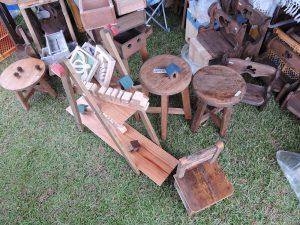 木工作家アフリカンさんブース