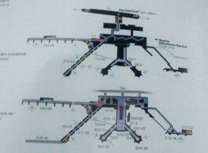 フランクフルト空港のゲートマップ
