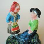 ポルトガル陶器 気の合う夫婦 Fernando Morgado