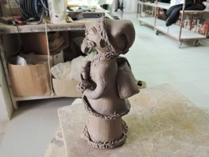 イレーネサゥゲイロさんの陶房で 作陶風景
