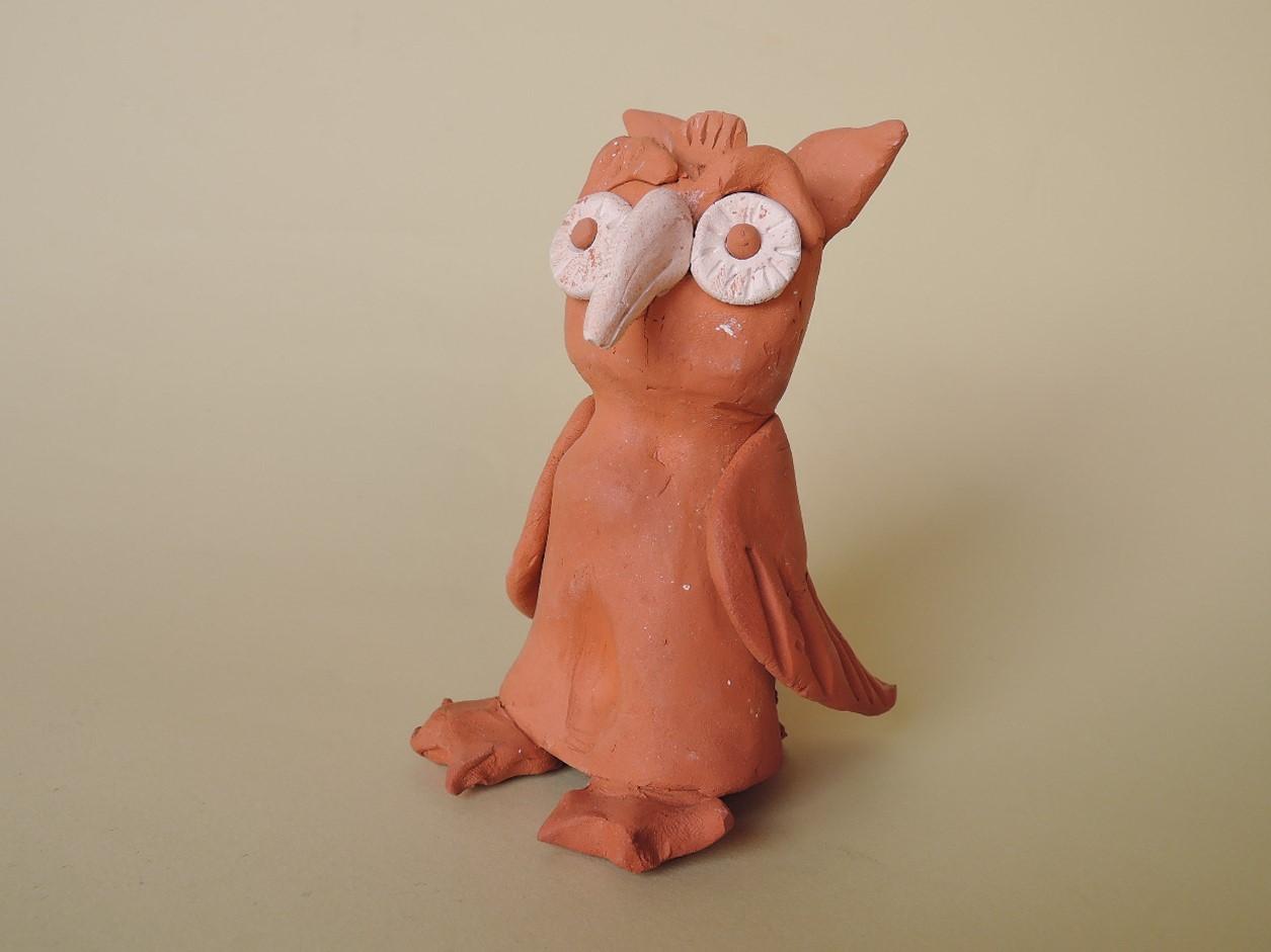 ポルトガル陶器人形 ラウリンダピアス作品 フクロウの置物