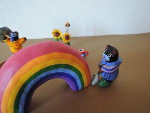 梅雨時期の夢 虹の根本を掘るよ!