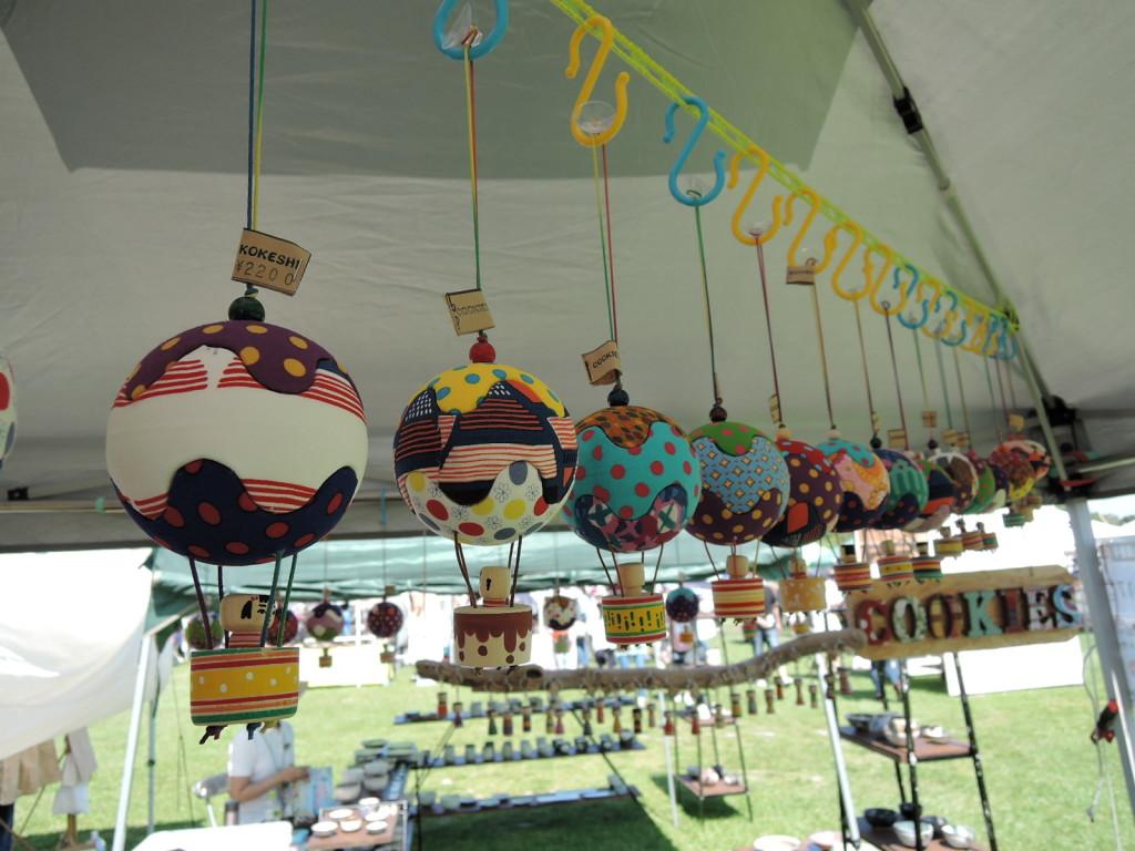 面白こけし雑貨COOKIESのカラフル気球