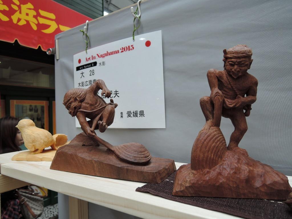木彫広隆庵大塚由紀夫さんブース風景