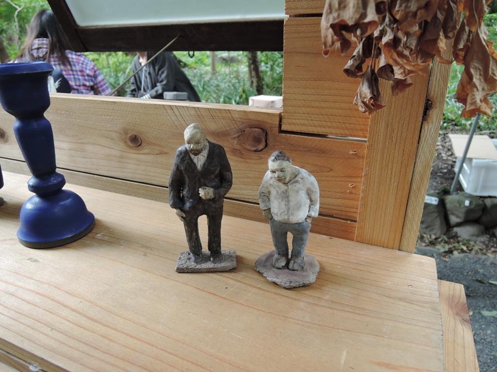 中村家さんのブースに立つ陶人