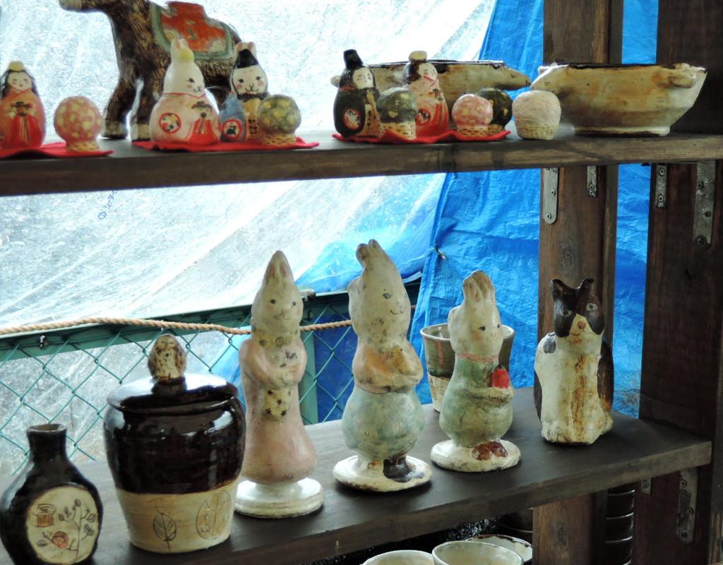 ゆめひろば会場HORIMIZU窯さんの陶人形