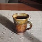 髙取焼のマグカップで秋の朝