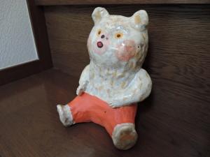 増田光さんの陶人形 くまさん