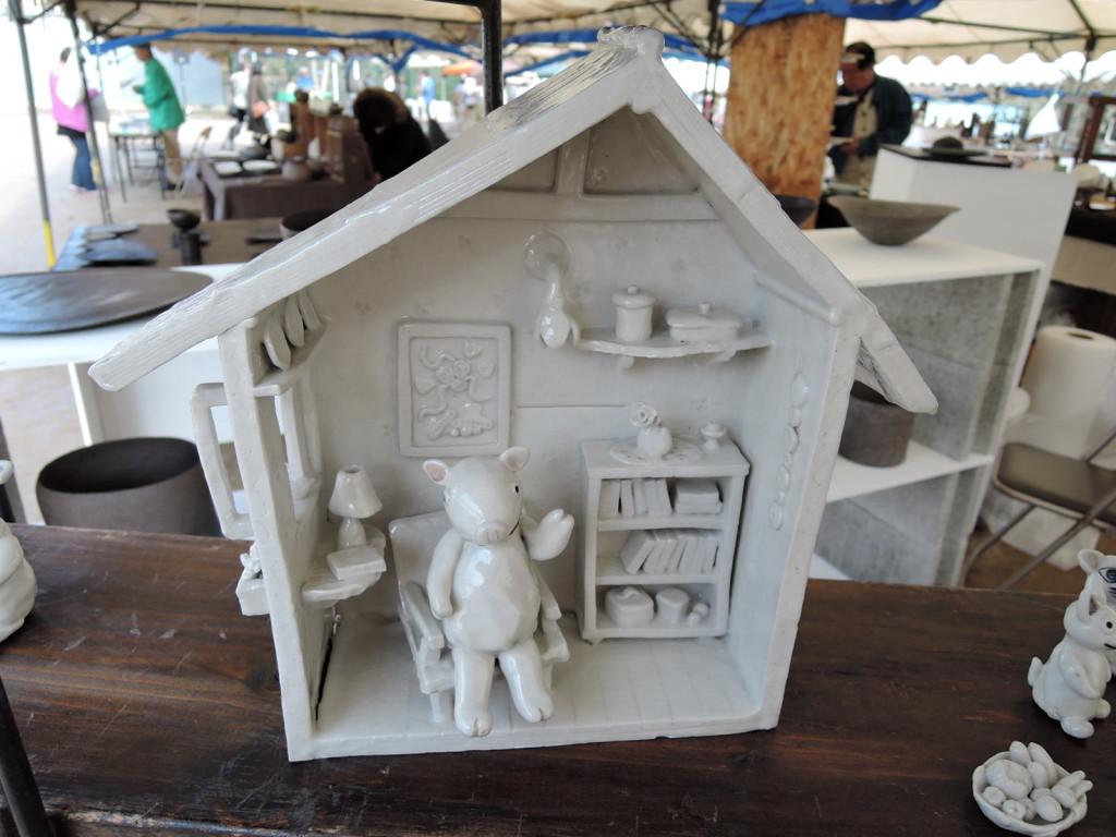 岡田育子さんの展示作品 ドールハウス