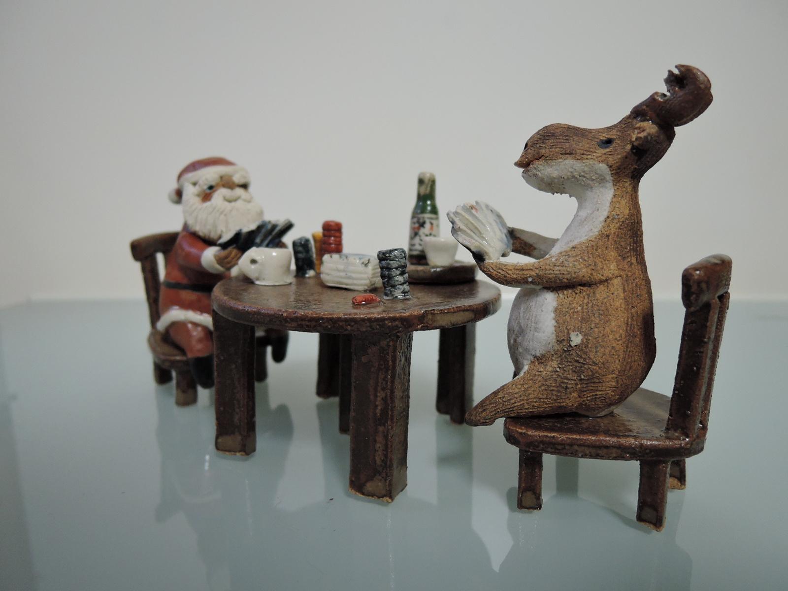 やなぎゆきおさんのクリスマスの晩の情景