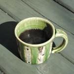橋口信弘さん織部のマグカップ