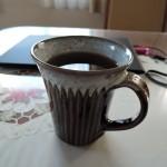 丹波焼俊彦窯流し掛けの黒釉が美しいマグカップ