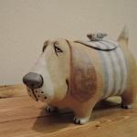 かとうゆみさんの犬のオブジェ