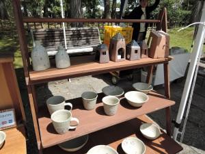 徳島の綿摘み陶房さんの可愛いブース風景