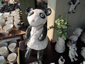 岡田育子さんのブース 大きなパンダ作品