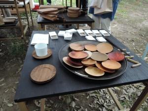 studio fujino さんの展示風景 皿に皿盛