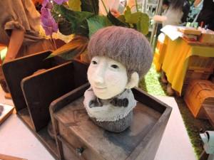 羊毛作家umekaさんの展示作品。これもすごいっ!!