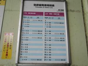 燕三条駅 弥彦線ホーム