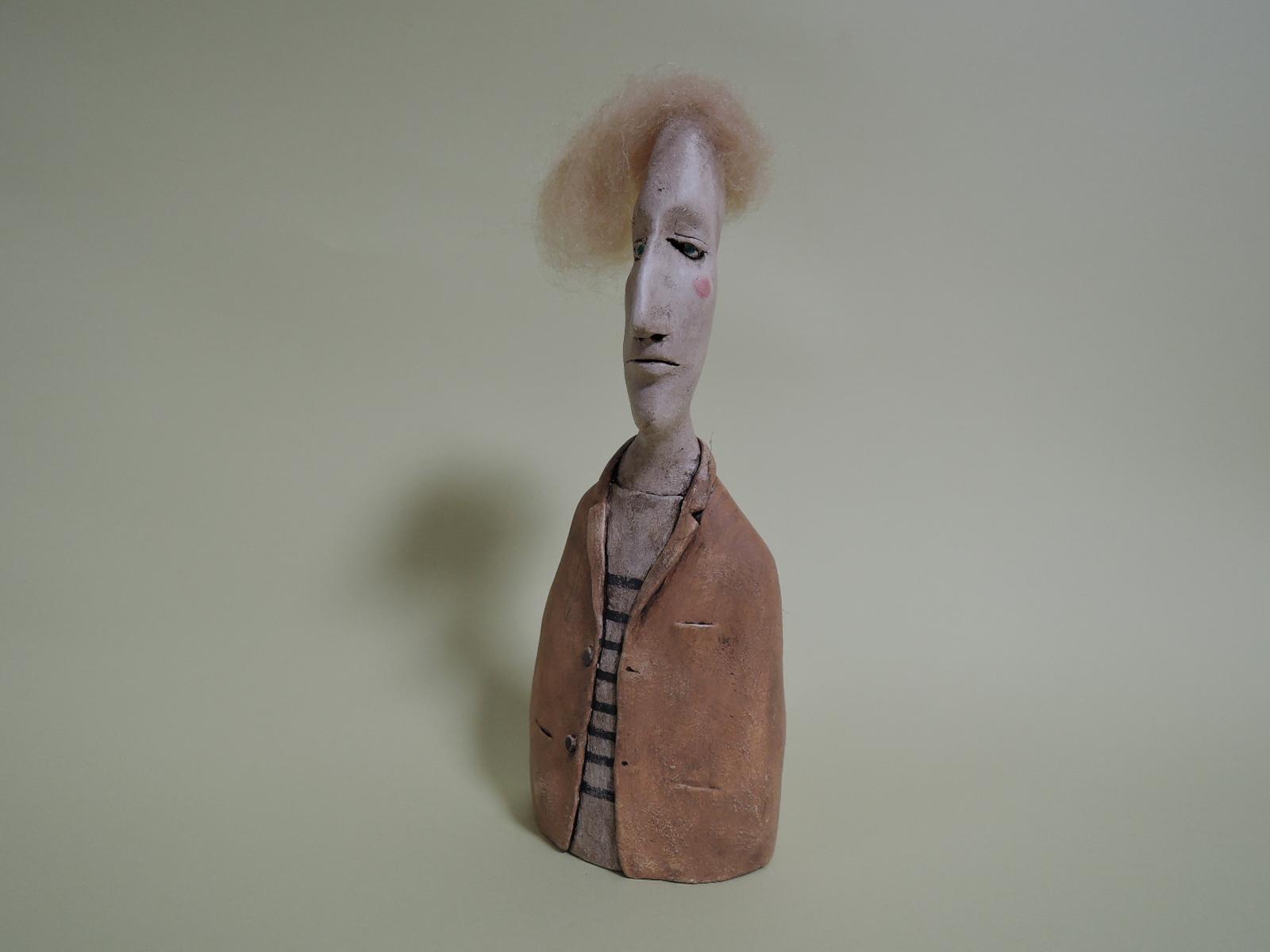 杉浦史典さんの陶器オブジェ 或る男