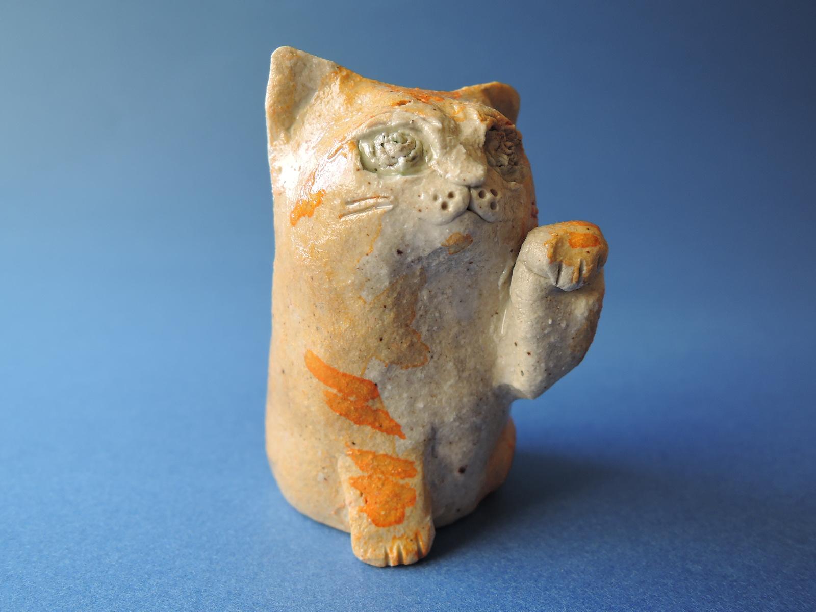 桜井ケンイチさん陶展 豆猫