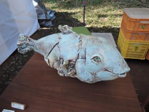 陶の棲さん オーラ放つ大きな魚 作品