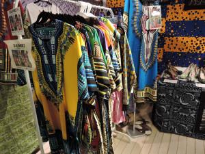 ナイジェリア色鮮やかな衣料品