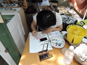 門脇美香江さんの娘さん 画家さんだね!