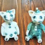 岡田育子さん陶器人形 ネコBoyとネコGirl