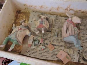 陶房風景 窯入れ前の作品達。