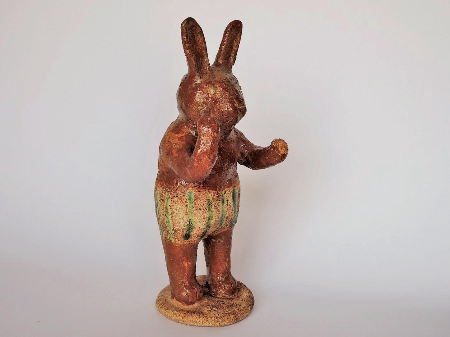 濱比嘉詩子さんの陶人形 森の仲間 ウサギ