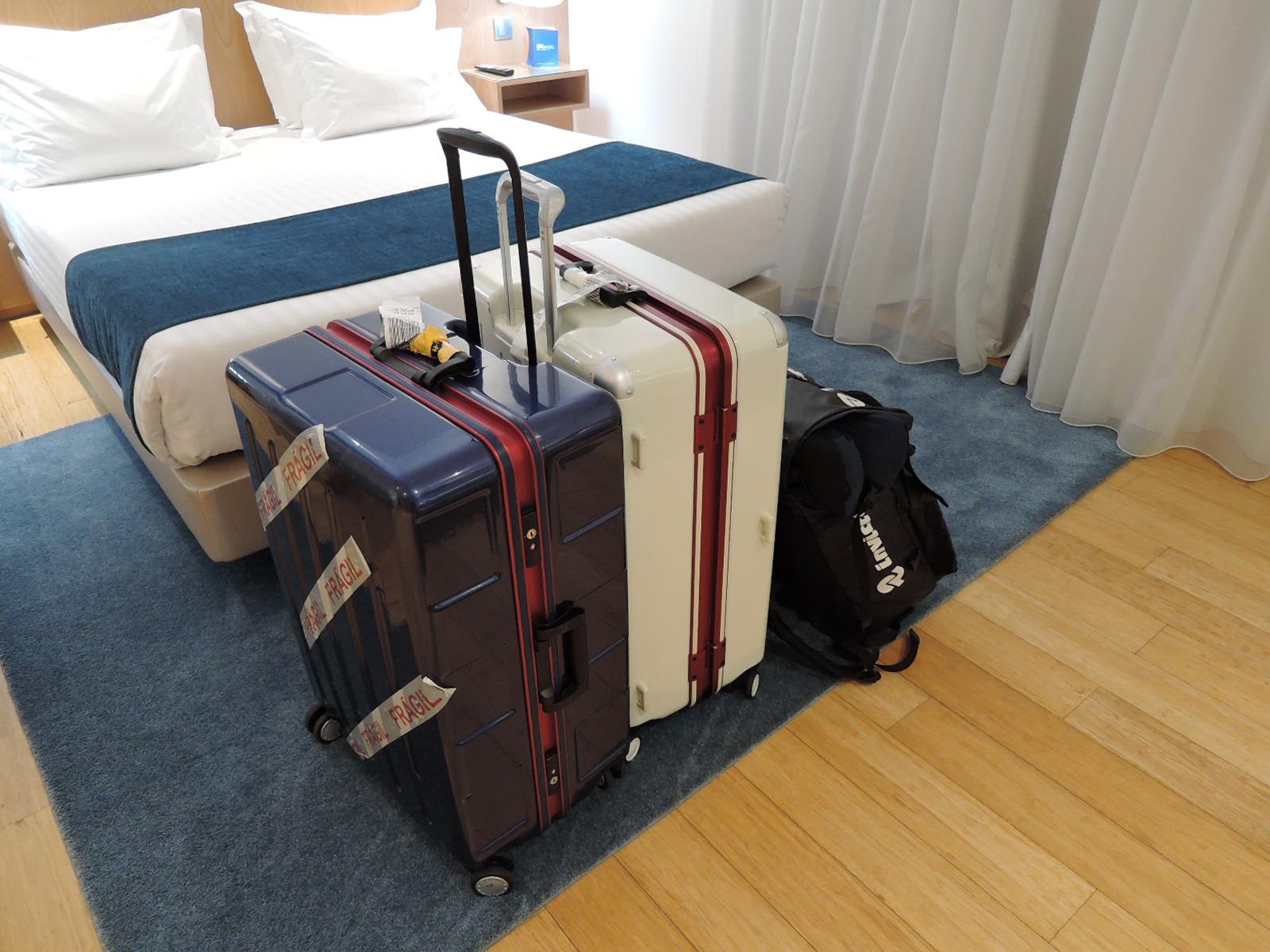 2017秋ポルトガル訪問の荷物