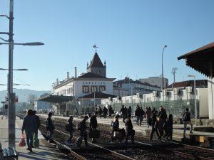 到着したバルセロス駅の風景
