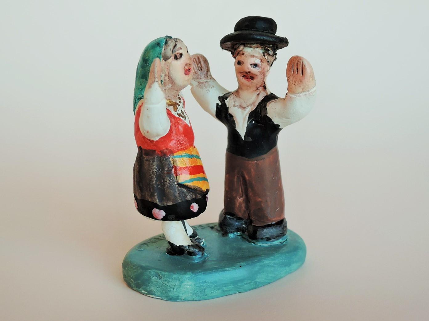 Fernando Morgado ポルトガル陶器人形 仲良し夫婦