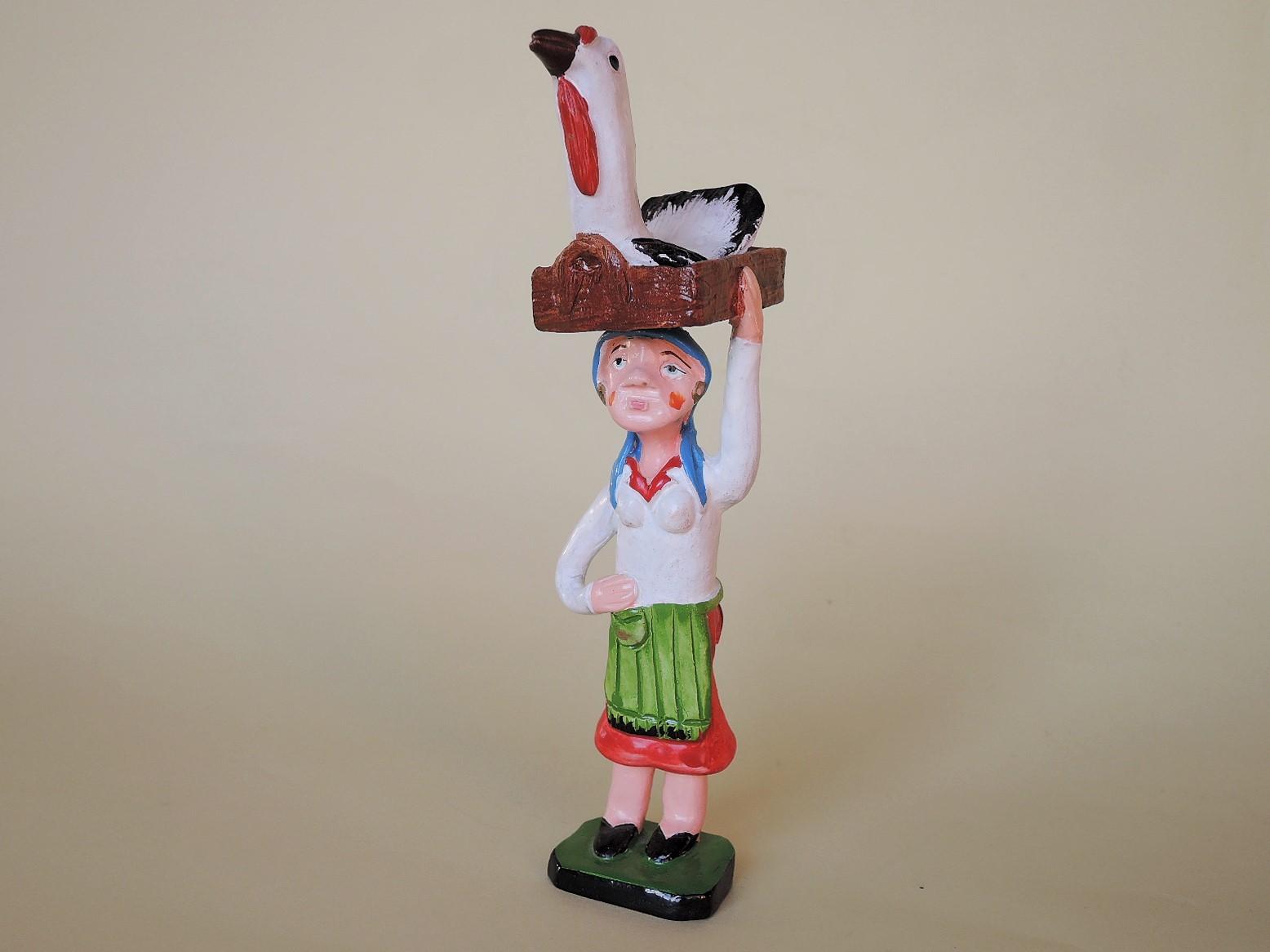 ジョアンフェレイラ(ポルトガル)作品 鶏を運ぶ女性