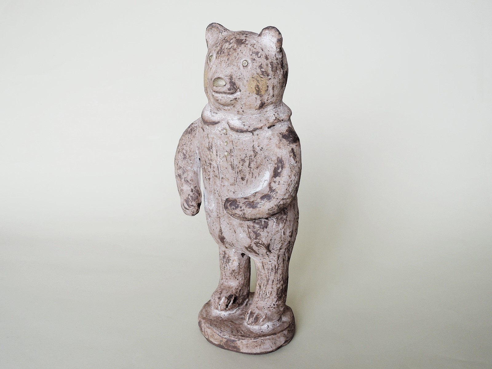 濱比嘉詩子陶彫人形 しろいクマさん