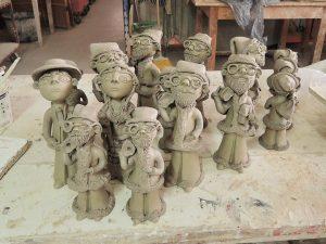 イレーネサゥゲイロさんの陶房にて 作陶風景