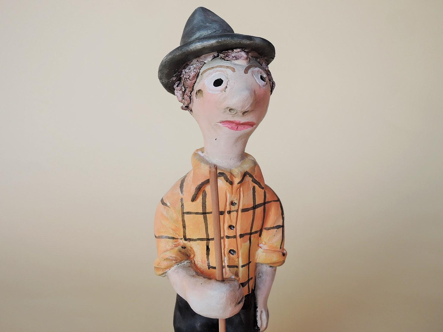 ポルトガル陶器 ミーニョの男性 フェルナンドモルガード作品
